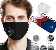 Breathable Washable Cool Cloth Face Cover Air Port + 2 Carbon Filters