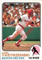 Custom made Topps  1973 Boston red Sox Carl Yastrzemski  Baseball card