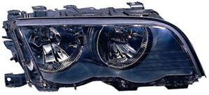 BMW 3 E46 Headlights Headlamp Black Coupe + Cabrio  (PAIR)