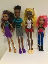 MONSTER HIGH PACK OF TROUBLE WOLF FAMILY - CLAWD, CLAWDIA, CLAWDEEN & HOWLEEN