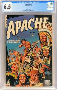D170 APACHE #1 Fiction House CGC 6.5 FN+ (1951) ONLY ISSUE
