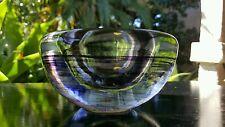 Artland Scandia Glass Votive Tealight Holder Purple Swirls