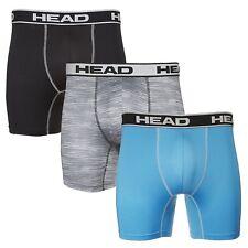 HEAD Mens Performance Underwear 3-PACK Boxer Briefs S-XXL Polyester/Spandex