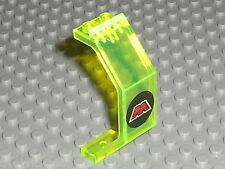 LEGO espace space TrNeonGreen Panel with MTron Logo Pattern 2466p68 / Set 6833