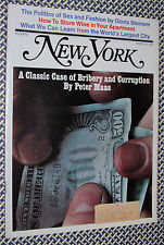 1970 New York Magazine, CLASSIC CORRUPTION, Sex Fashion, Gloria Steinem, Wine