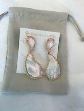Kendra Scott Teddi Earrings 14k Rose Gold Plated Ivory Mother of Pearl Earrings