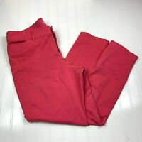 Old Navy Womens Pixie Chino Ankle Pant Size 12 Regular Guava Pink Flat Front