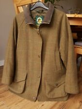 Oxford Blue Heritage Women's Waterproof Wool Tweed Coat. UK16