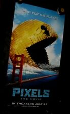"Original PIXELS Styrene 26"" X 50""  D/S Phone Booth Poster PACMAN SAN FRANCISCO"