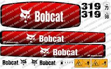 Bobcat 319 Mini Escavatrice Adesivo Decalcomania Completo Set