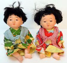 Vintage Oriental Chinese Plastic Doll Pair