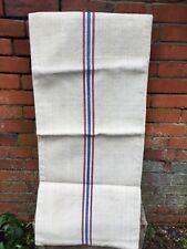 BELLISSIMO VINTAGE canapa lino sacco grano materiale di tela di iuta Tappezzeria progetto fai da te