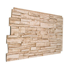 #137 Solid Color Faux Stacked Stone Wall Panel Made in USA Polyurethane