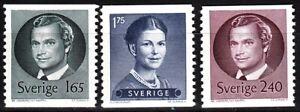 SWEDEN 1981 Definitive: Royals. Complete set, MNH