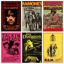BAND POSTERS Rare Alternative Rock Blues Concert Music Posters Club Bar Decor