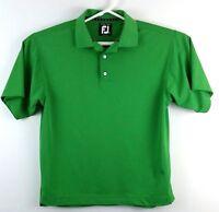 Footjoy FJ Golf Polo Shirt Prodry Pique Mens Size Medium Green EUC