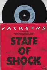 "JACKSONS ~ State of shock ~ 7"" 1984 (A4431) VG A1/B1"