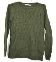 DKNY Women's Size Medium Angora Cotton Viscose Blend Knit Long Sleeve Sweater