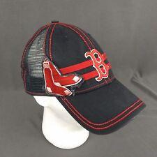 Boston Red Socks Hat New Era 39thirty Extra Large Mesh Back Black Patch