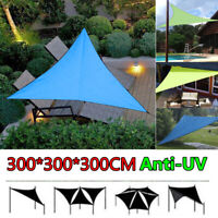 10ft UV Sun Shade Sail Outdoor Top Canopy Patio Triangle Net Pool Cover Waterpro