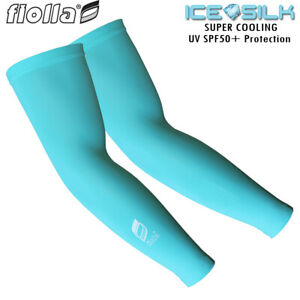 Cycling Arm Coolers - Fiolla Cool-Shell Sun Sleeves UV Protection and Cooling -