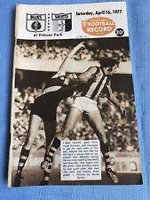VFL Football Record 1977 Carlton V St Kilda