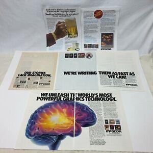 Infocom Vintage computer print ads Zork Deadline Hitchhiker's Guide Starcross