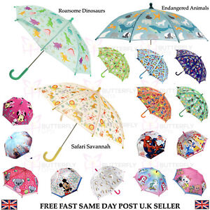 Kids Girls Boys Umbrella Dinosaur Disney Frozen Paw Patrol Spiderman Unicorn