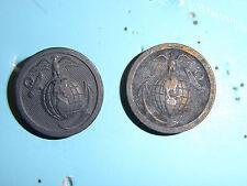 ega001p USMC WW1-1920s USMC EGA Collar Discs Enlisted Man EM pair L7R R5B
