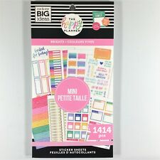 The Happy Planner Brights Mini Sticker Book Pack Of 1414 Me & My Big Ideas