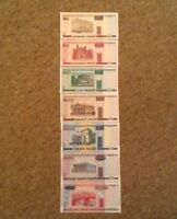 Belarus Banknote Lot. 7 X Notes. 20, 50, 100, 500, 1000, 5000, 10000 Rubles