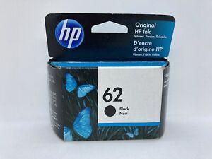 HP Genuine Original 62 Black Ink Cartridge ~ Sealed