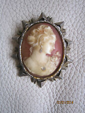 VINTAGE GRAND CAME ANCIEN MATIERE BELLE IMITATION DE COQUILLE / CAMEO BROOCH