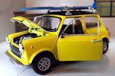 Modellini statici di auto , furgoni e camion gialli marca WELLY mini cooper