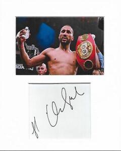 James DeGale Boxing authentic hand signed autograph signature AFTAL COA