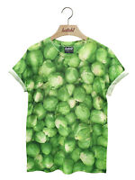 BATCH1 CHRISTMAS BRUSSELS SPROUTS ALL OVER PRINT XMAS UNISEX FESTIVE T-SHIRT