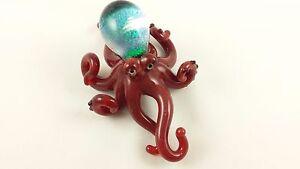 Octopus  - Glass Sculpture - handmade borosilicate glass