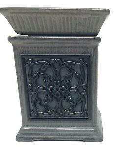 """Scentsy Jane Gray Column Candle Oil/Wax Warmer Wrought-iron Style Full Size 6"""""""