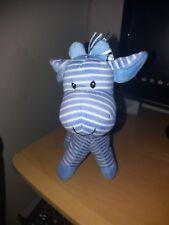 Mothercare blue Stripey Stripe Giraffe Horse Comforter Soft Hug Toy Rattle