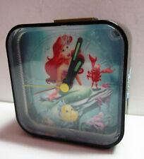 Disney Little Mermaid Ariel Small Black Bedside Alarm Clock