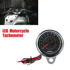 13000 RPM LED Motorcycle Tachometer Speedometer Gauge For Harley Kawasaki Honda