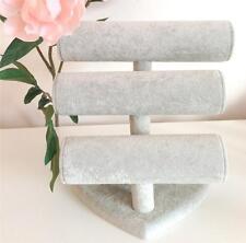 3 Tier gris velours BRACELET MONTRE Display Stand + Amour Forme Coeur EBASE