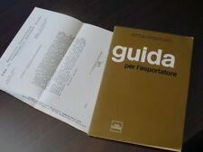 (PRL) 1970 BOOK ANTIQUE LIBRO ANTICO VINTAGE LIVRE GUIDA ESPORTATORE MINISTERO