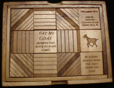 Get My Goat wood brain teaser puzzle - designed 1914