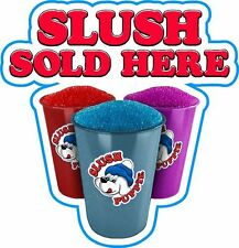 SLUSH SOLD HERE STICKER - For Catering Vans ice cream vans cafes Etc.