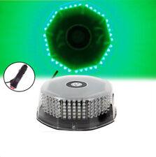Green 240 LED Flash Strobe Rotating Round Beacon Roof top Emergency Light 12V
