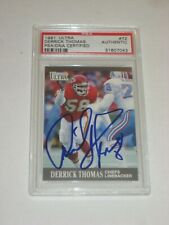 DERRICK THOMAS (KC Chiefs) Signed 1991 ULTRA Card #72 PSA Certified