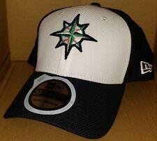 NWT NEW ERA Seattle MARINERS WA 39THIRTY black Small-Medium baseball cap hat f09354757eec