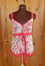 MONSOON white pink black silver floral camisole vest tunic top summer holiday 12