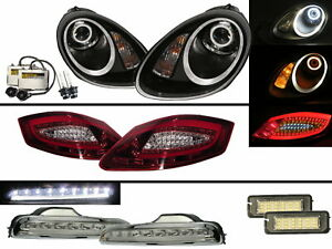 Boxster 987 05-08 HID Headlights+LED Tail Lights+DRLs COMBO V3 for PORSCHE LHD